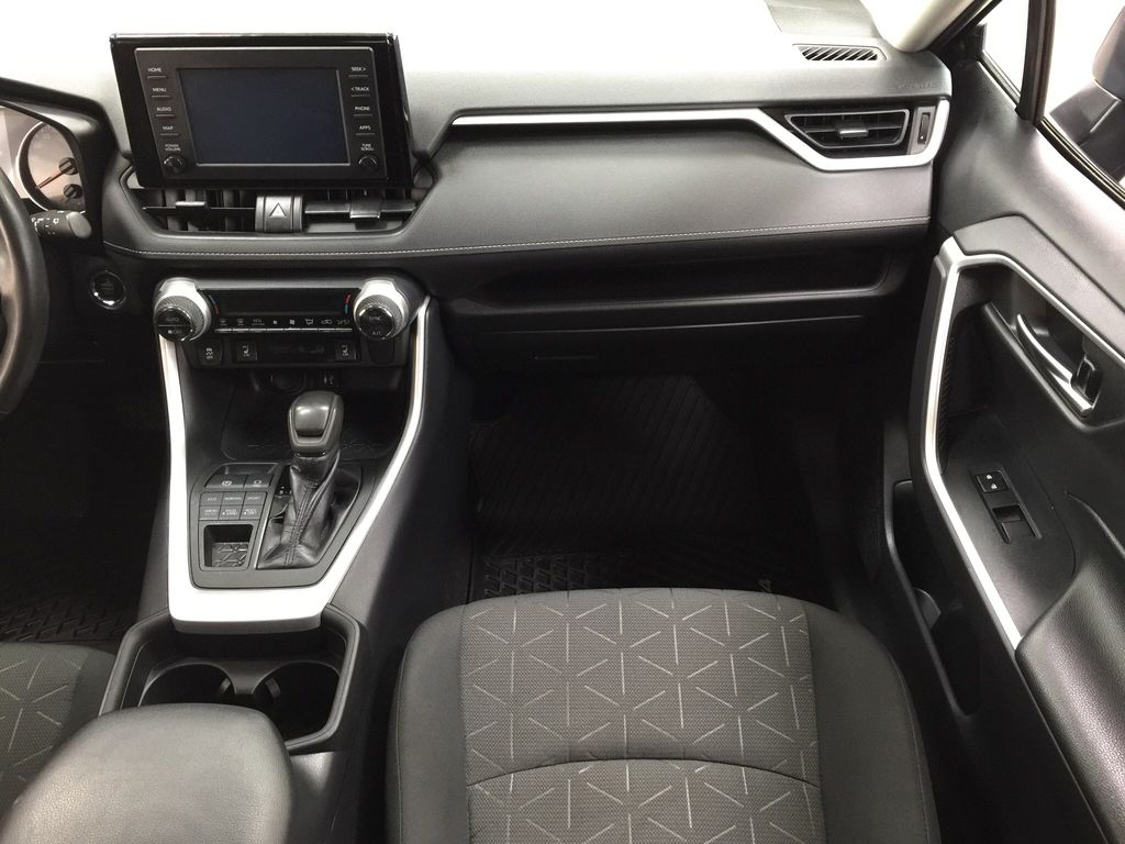 Black[Midnight Black Metallic] 2019 Toyota RAV4 XLE AWD Right Front Seat Photo in Sherwood Park AB