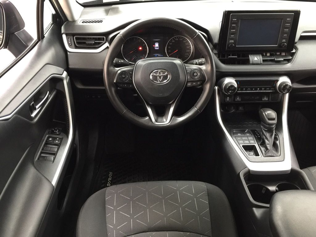 Black[Midnight Black Metallic] 2019 Toyota RAV4 XLE AWD Left Front Seat Photo in Sherwood Park AB