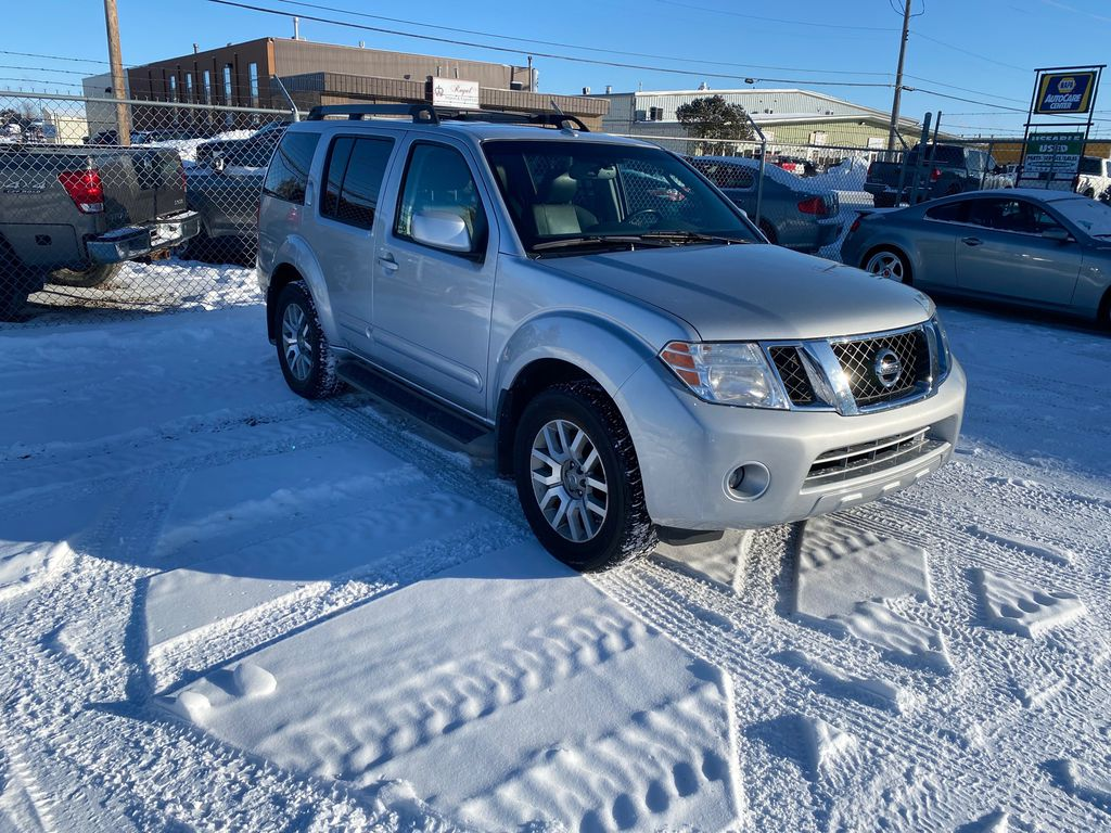 Silver[Airstream Metallic] 2012 Nissan Pathfinder Right Side Photo in Lethbridge AB