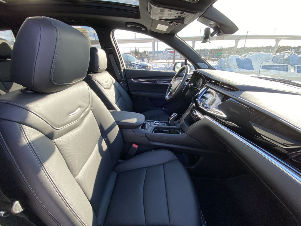 Gray[Shadow Metallic] 2021 Cadillac XT6 Sport Right Side Front Seat  Photo in Calgary AB
