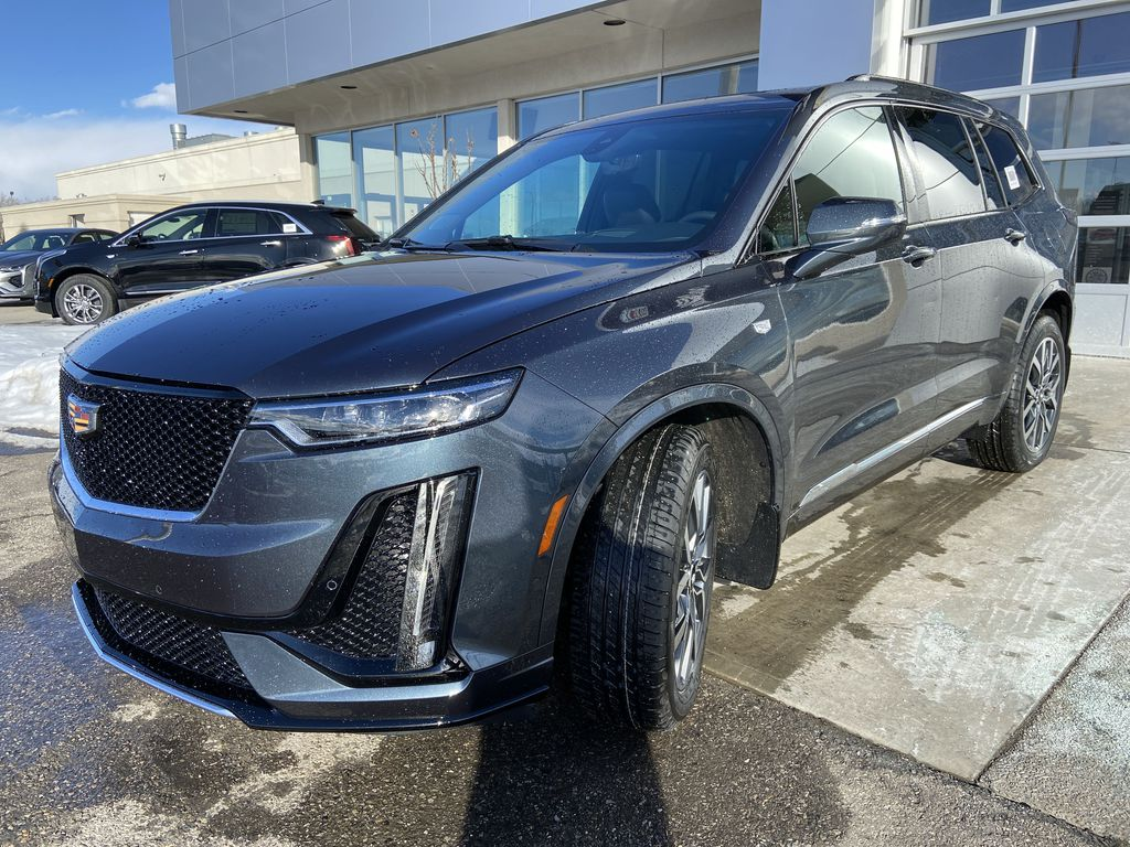 Gray[Shadow Metallic] 2021 Cadillac XT6 Sport Left Front Head Light / Bumper and Grill in Calgary AB