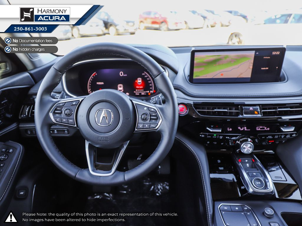WHITE NH-883P 2022 Acura MDX Front Seats and Dash Photo in Kelowna BC