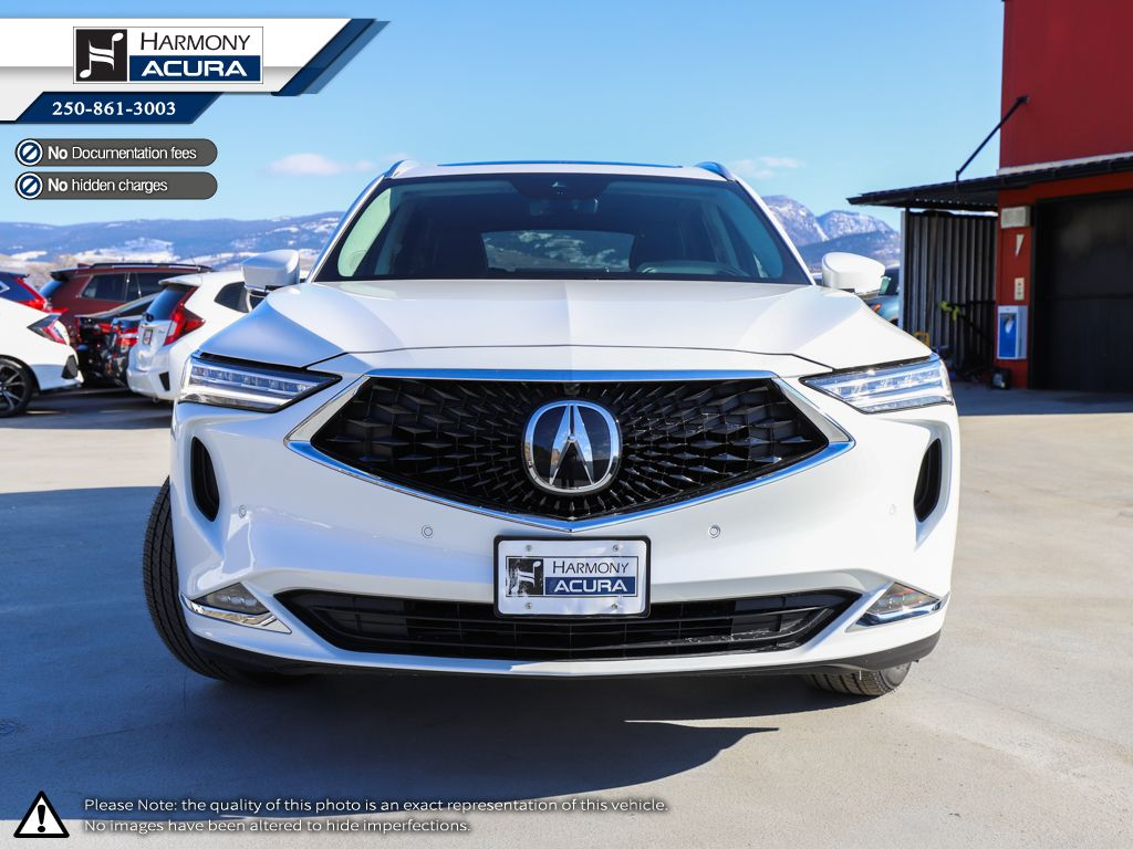 WHITE NH-883P 2022 Acura MDX Left Front Interior Photo in Kelowna BC