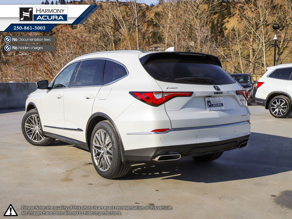WHITE NH-883P 2022 Acura MDX Left Side Rear Seat  Photo in Kelowna BC