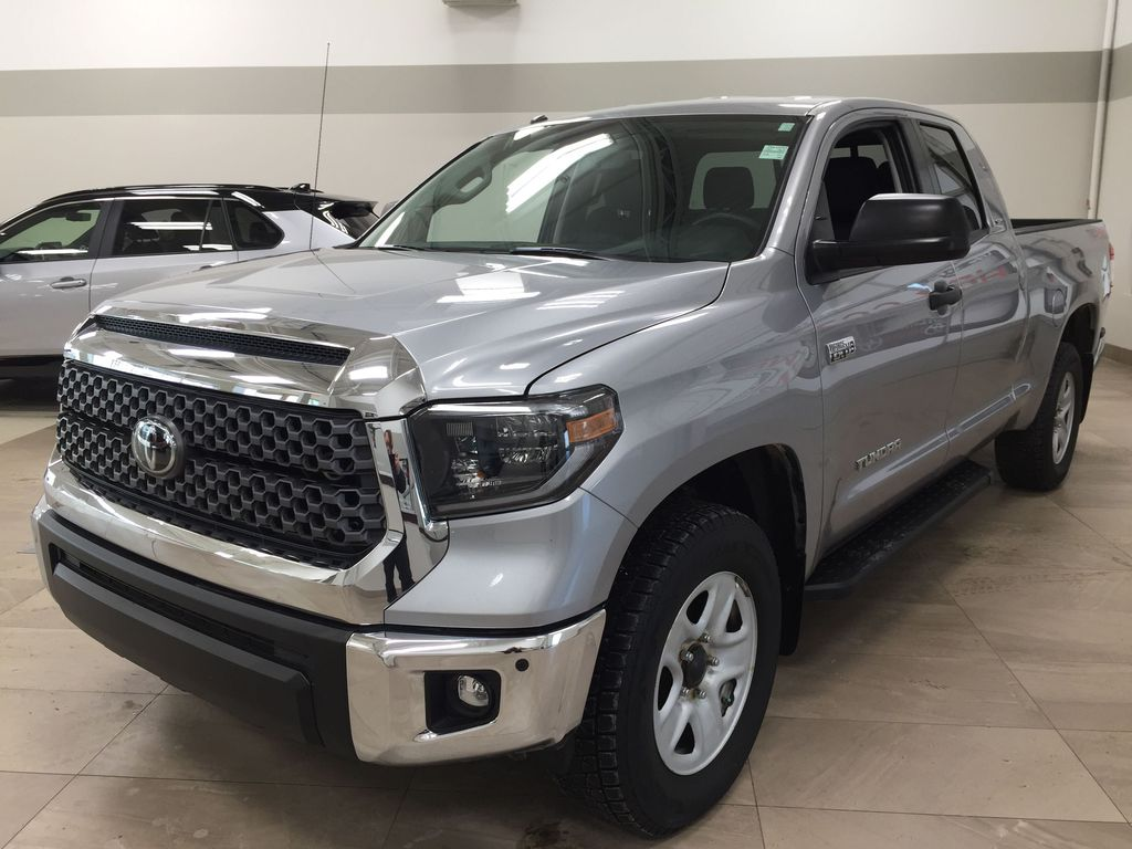 Silver[Silver Sky Metallic] 2019 Toyota Tundra TRD Off-Road Double Cab 4x4 Left Front Corner Photo in Sherwood Park AB
