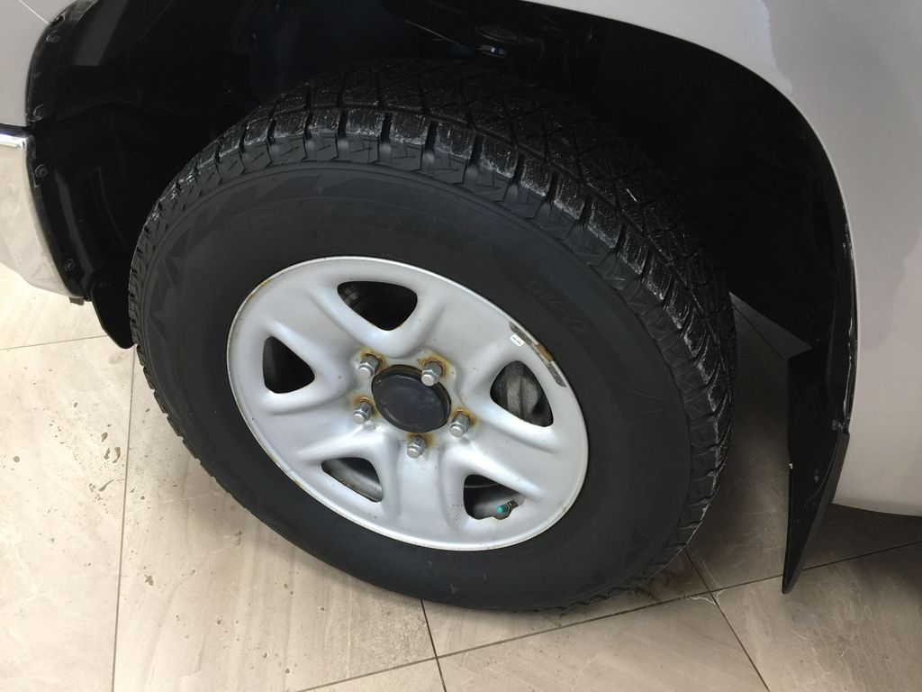 Silver[Silver Sky Metallic] 2019 Toyota Tundra TRD Off-Road Double Cab 4x4 Left Front Rim and Tire Photo in Sherwood Park AB