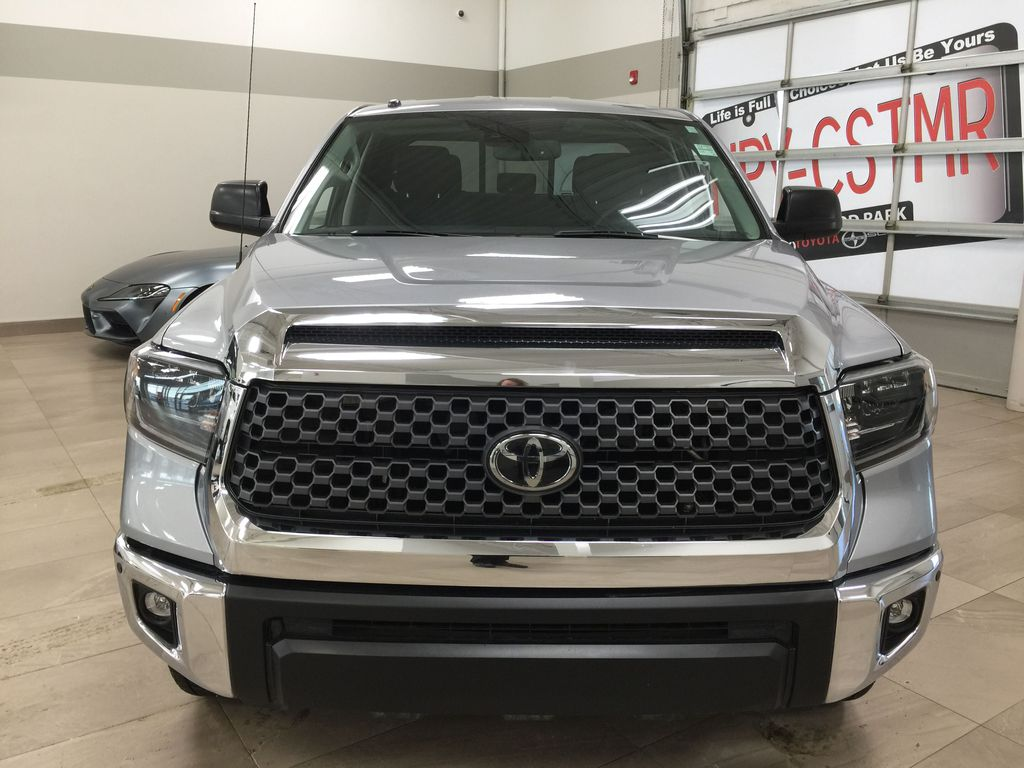 Silver[Silver Sky Metallic] 2019 Toyota Tundra TRD Off-Road Double Cab 4x4 Front Vehicle Photo in Sherwood Park AB