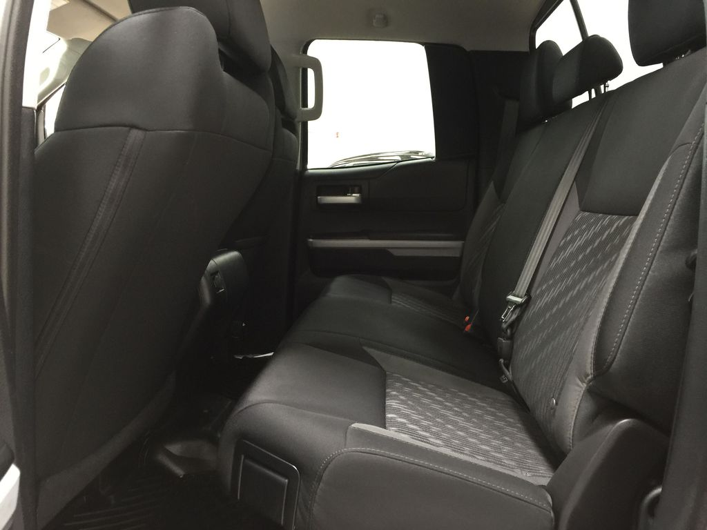 Silver[Silver Sky Metallic] 2019 Toyota Tundra TRD Off-Road Double Cab 4x4 Left Side Rear Seat  Photo in Sherwood Park AB