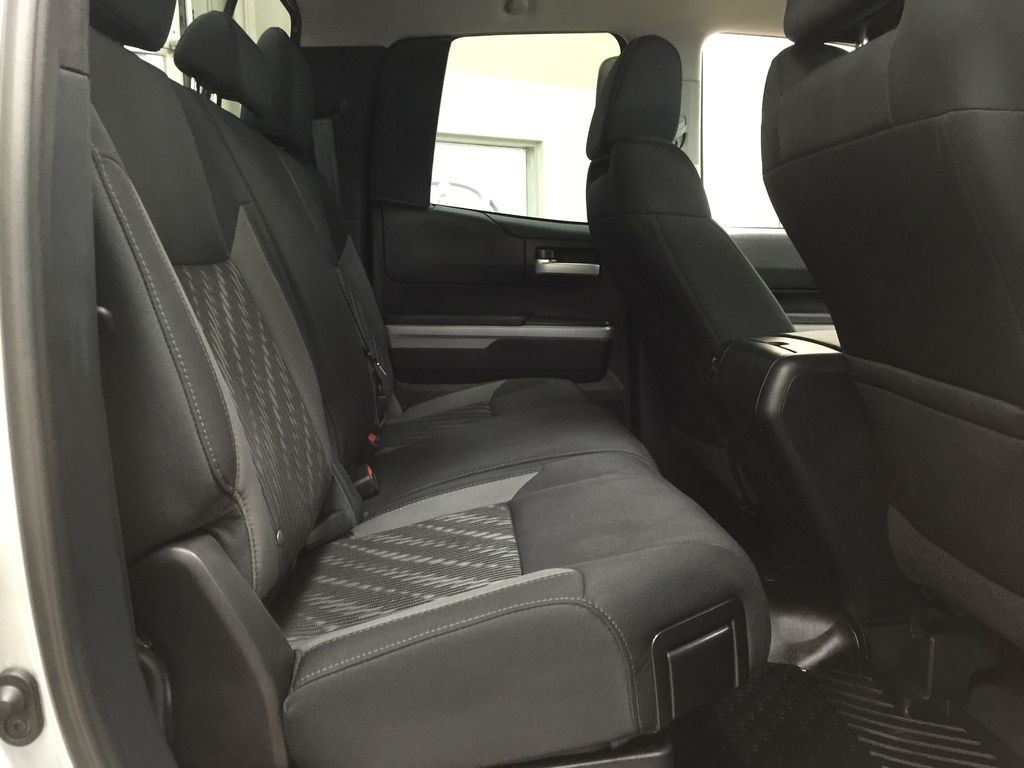 Silver[Silver Sky Metallic] 2019 Toyota Tundra TRD Off-Road Double Cab 4x4 Right Side Rear Seat  Photo in Sherwood Park AB