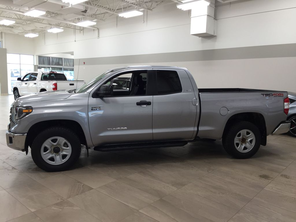 Silver[Silver Sky Metallic] 2019 Toyota Tundra TRD Off-Road Double Cab 4x4 Left Side Photo in Sherwood Park AB