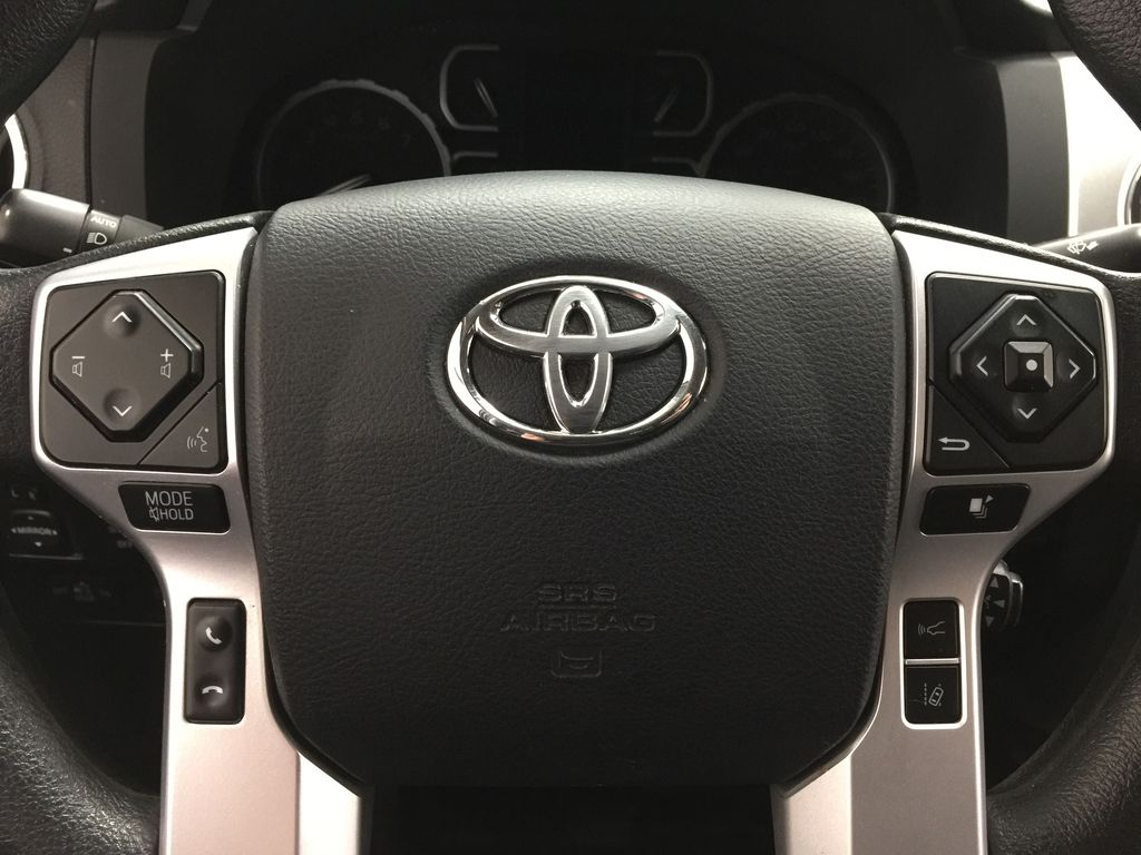 Silver[Silver Sky Metallic] 2019 Toyota Tundra TRD Off-Road Double Cab 4x4 Steering Wheel and Dash Photo in Sherwood Park AB
