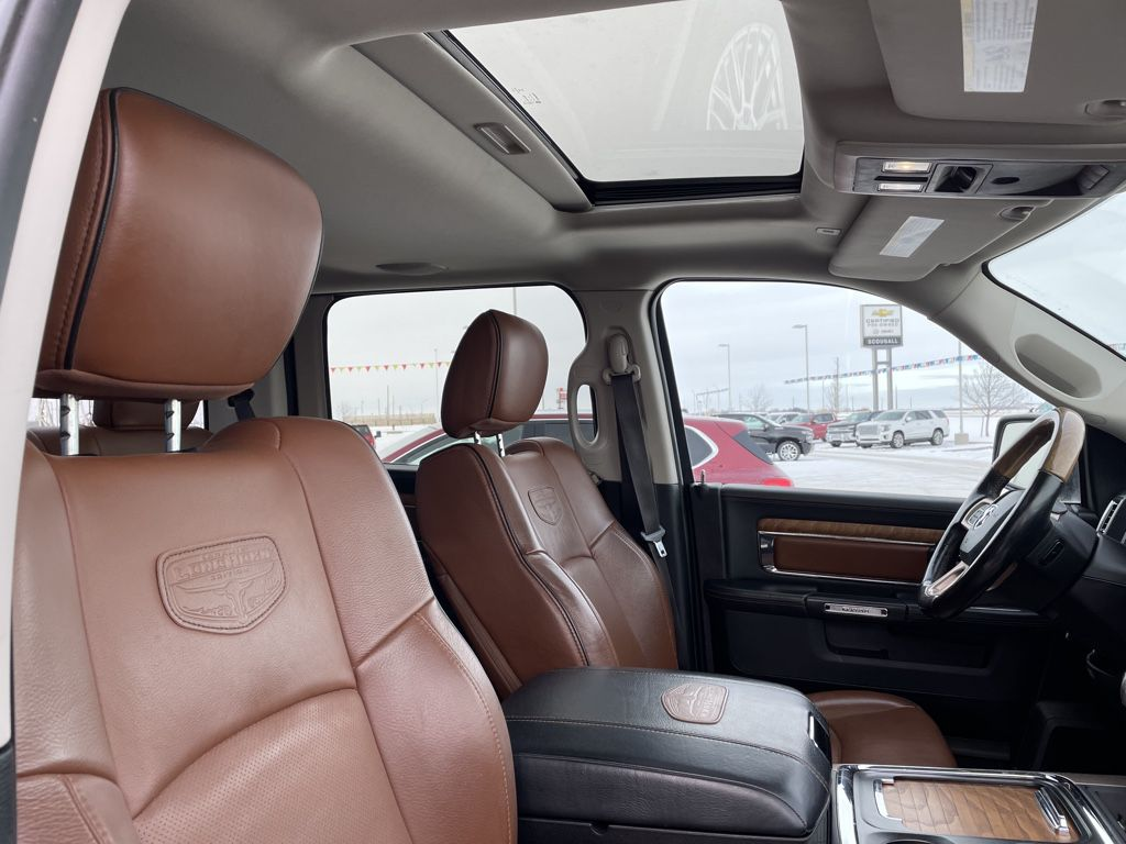 Black[Brilliant Black Crystal Pearl] 2017 Ram 1500 Left Front Interior Photo in Fort Macleod AB