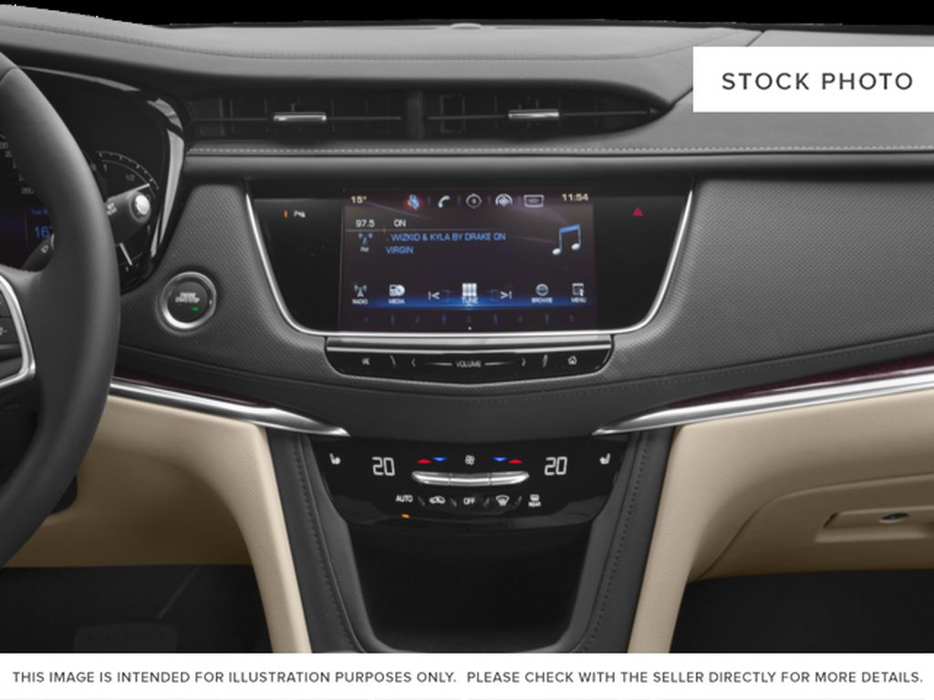 White[Crystal White Tricoat] 2017 Cadillac XT5 Radio Controls Closeup Photo in Fort Macleod AB
