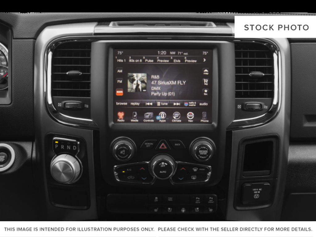 Red[Flame Red] 2018 Ram 1500 Radio Controls Closeup Photo in Fort Macleod AB