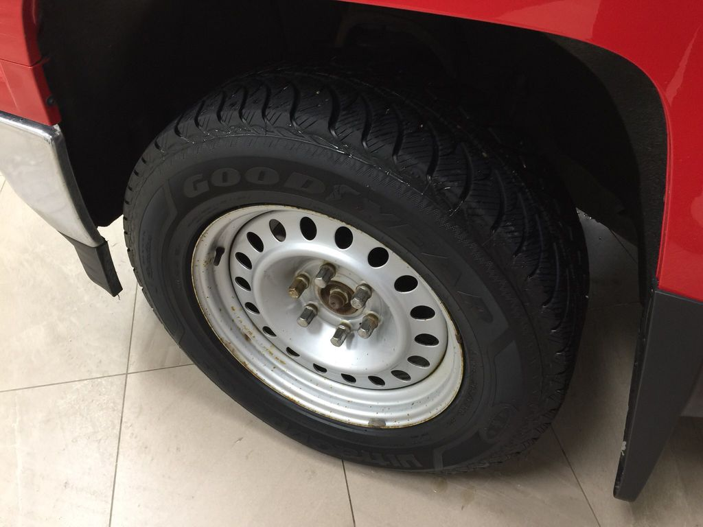 Red[Victory Red] 2015 Chevrolet Silverado 1500 LT Left Front Rim and Tire Photo in Sherwood Park AB