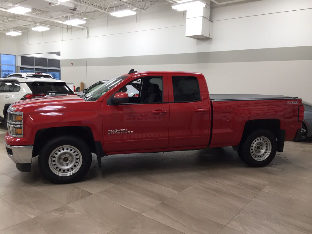 Red[Victory Red] 2015 Chevrolet Silverado 1500 LT Left Side Photo in Sherwood Park AB