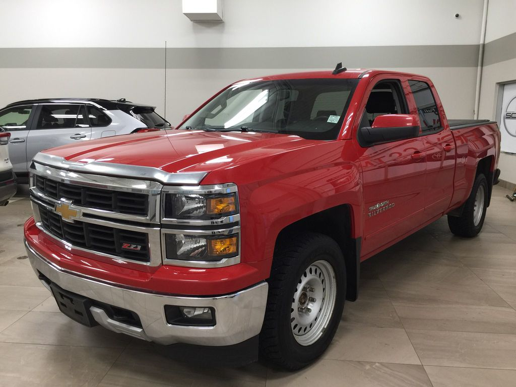 Red[Victory Red] 2015 Chevrolet Silverado 1500 LT Left Front Corner Photo in Sherwood Park AB