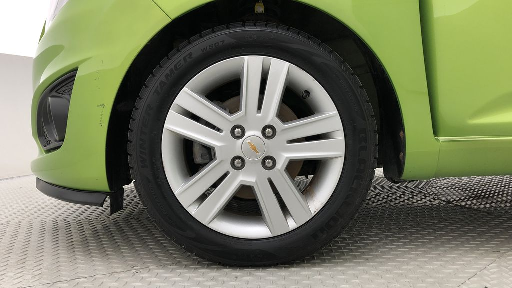 Green[Lime] 2015 Chevrolet Spark LT - AUTO,  Bluetooth, Automatic, SiriusXM Radio Left Front Rim and Tire Photo in Winnipeg MB