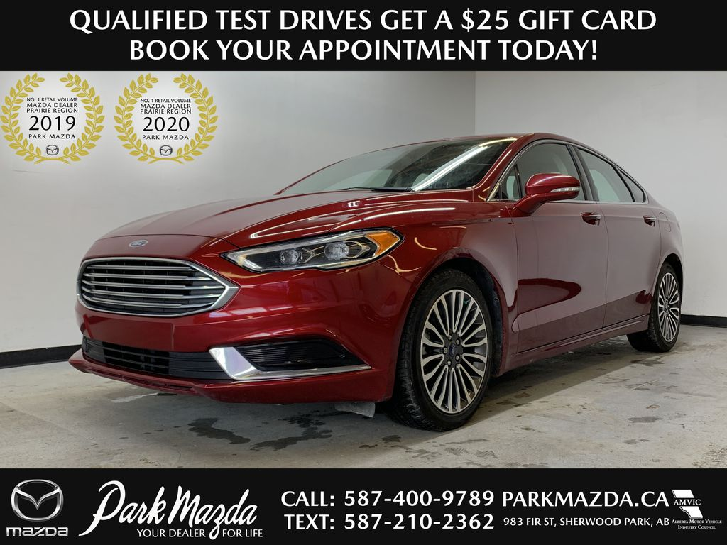 D.RED 2018 Ford Fusion SE -  Apple CarPlay, Remote Start, NAV,