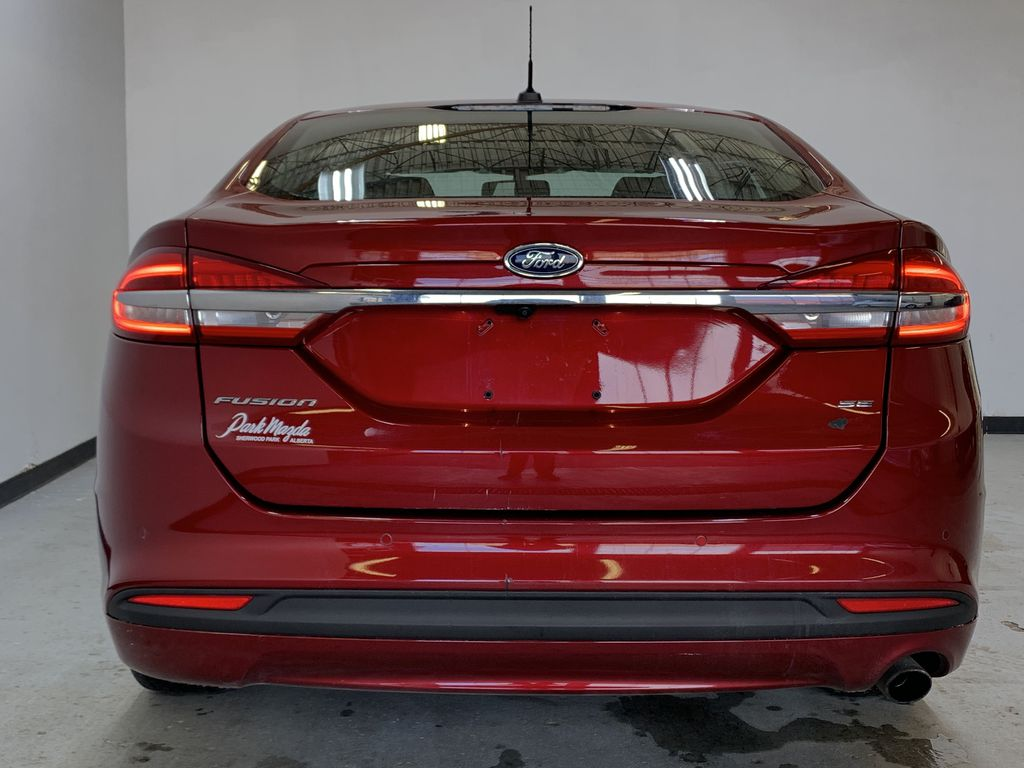 D.RED 2018 Ford Fusion SE -  Apple CarPlay, Remote Start, NAV, Rear of Vehicle Photo in Edmonton AB