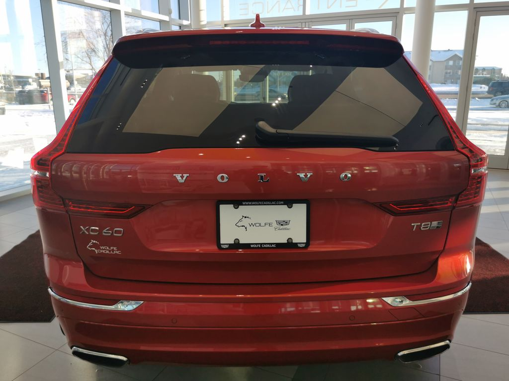 Red[Fusion Red Metallic] 2020 Volvo XC60 Rear of Vehicle Photo in Edmonton AB