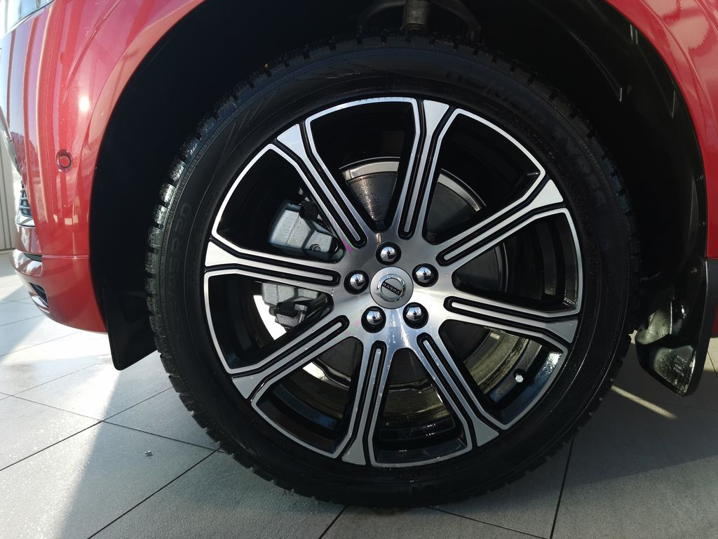 Red[Fusion Red Metallic] 2020 Volvo XC60 Left Front Rim and Tire Photo in Edmonton AB