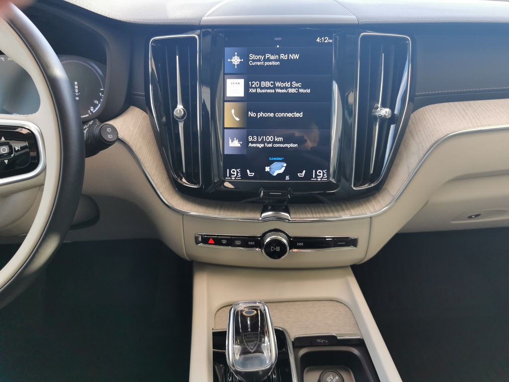 Red[Fusion Red Metallic] 2020 Volvo XC60 Central Dash Options Photo in Edmonton AB