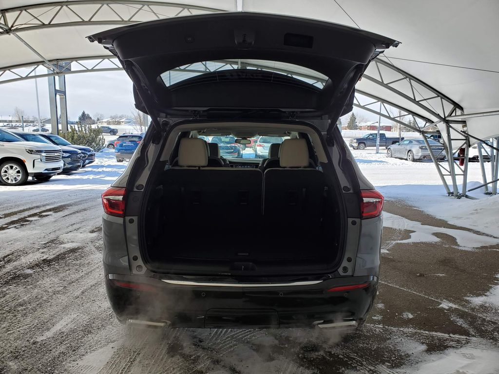 Dark Grey 2021 Buick Enclave Strng Wheel/Dash Photo: Frm Rear in Airdrie AB