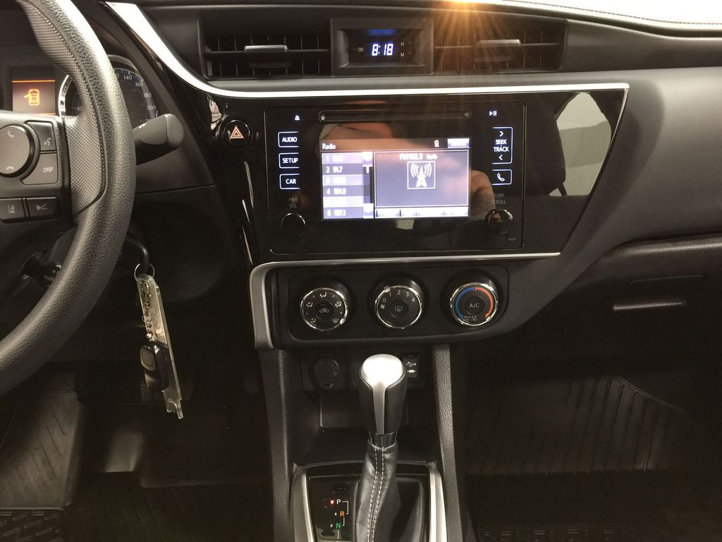 Silver[Classic Silver Metallic] 2019 Toyota Corolla CE Auto Central Dash Options Photo in Sherwood Park AB