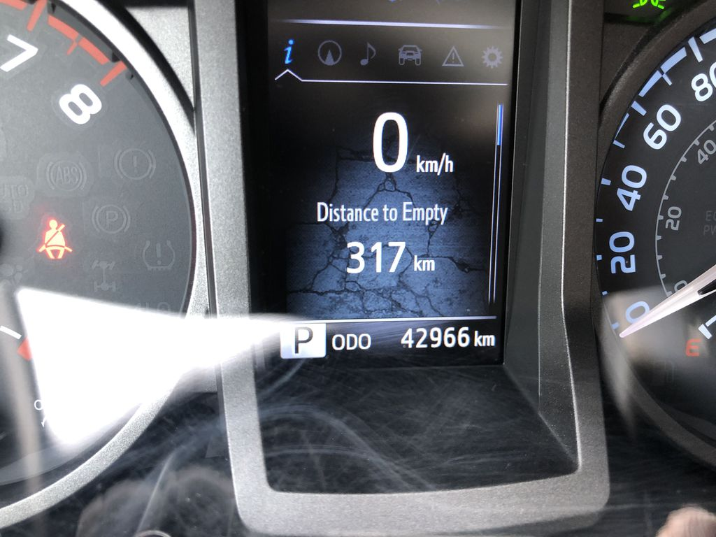 Gray[Cement Grey Metallic] 2019 Toyota Tacoma SR5 Odometer Photo in Canmore AB