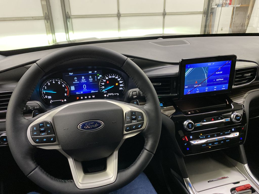 STERLING GREY METALLIC 2021 Ford Explorer Steering Wheel and Dash Photo in Dartmouth NS