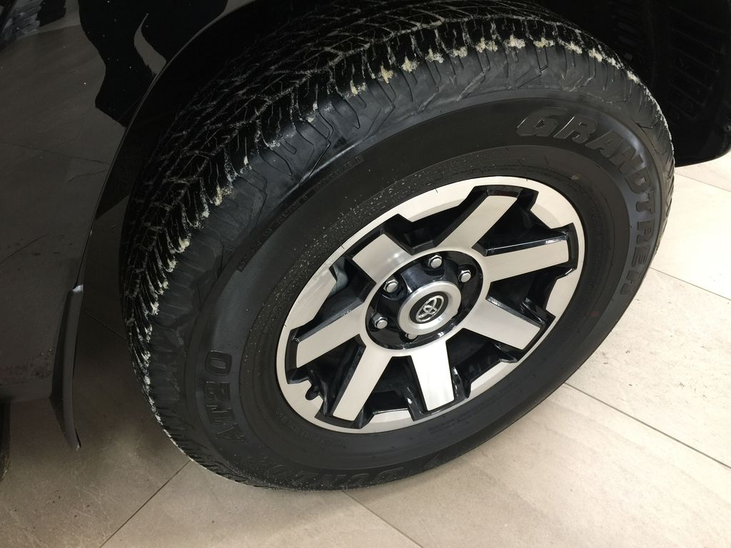 Black[Midnight Black Metallic] 2020 Toyota 4Runner TRD Off-Road Right Front Rim and Tire Photo in Sherwood Park AB