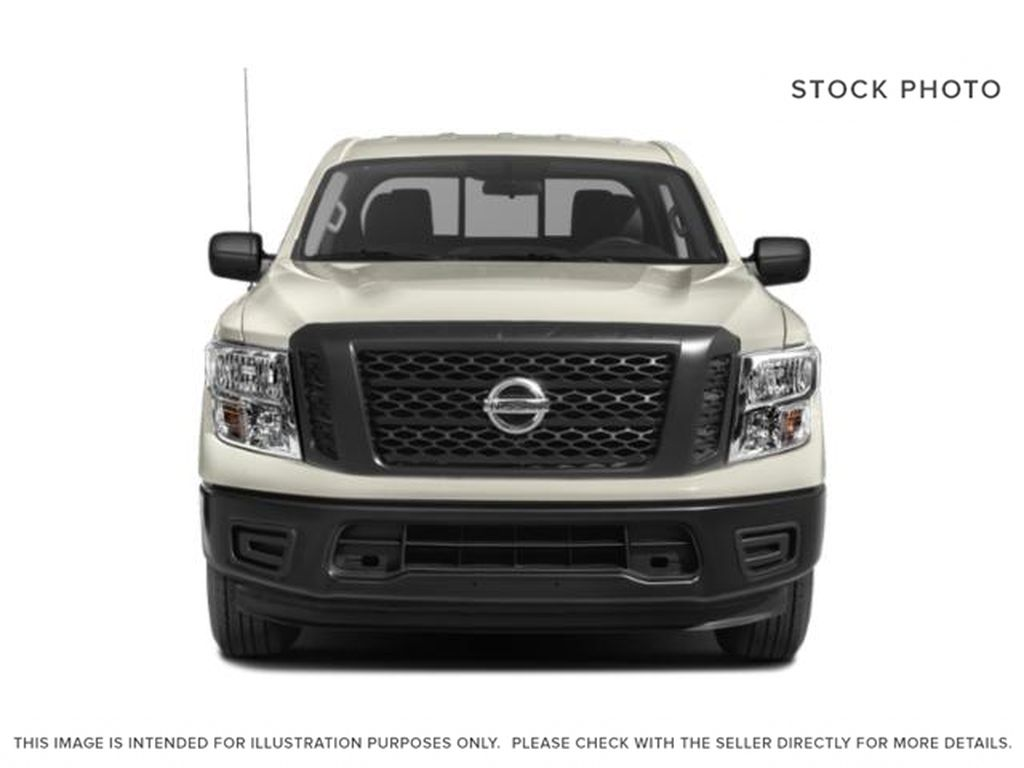 White[Glacier White] 2018 Nissan Titan Front Vehicle Photo in Fort Macleod AB