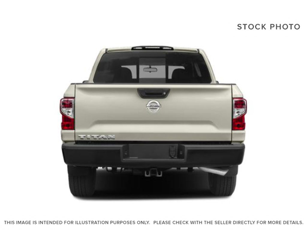 White[Glacier White] 2018 Nissan Titan Rear of Vehicle Photo in Fort Macleod AB