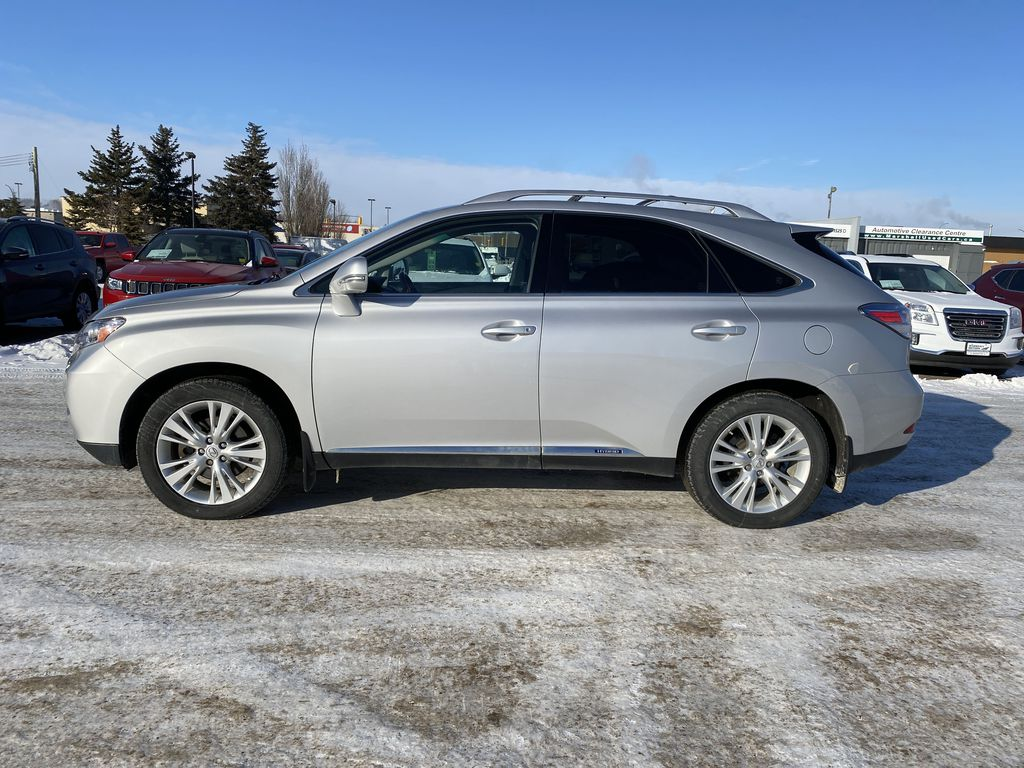 Silver[Tungsten Pearl] 2012 Lexus RX 450h AWD 4dr Hybrid *Heated/Cooled Seats* *NAV* *Backup Cam* Left Side Photo in Brandon MB