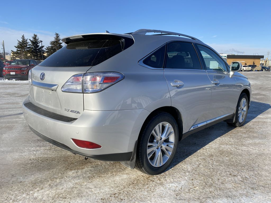 Silver[Tungsten Pearl] 2012 Lexus RX 450h AWD 4dr Hybrid *Heated/Cooled Seats* *NAV* *Backup Cam* Right Rear Corner Photo in Brandon MB