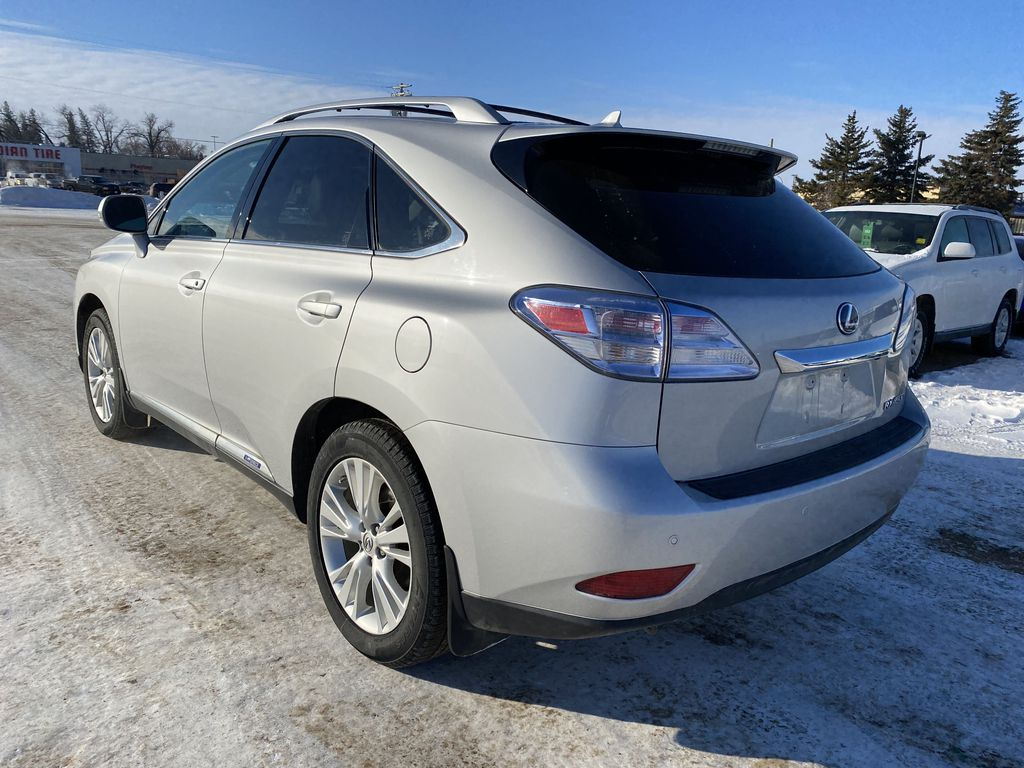 Silver[Tungsten Pearl] 2012 Lexus RX 450h AWD 4dr Hybrid *Heated/Cooled Seats* *NAV* *Backup Cam* Left Rear Corner Photo in Brandon MB