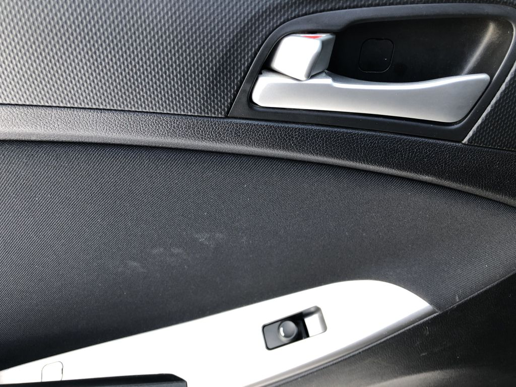Black[Ultra Black Pearl] 2015 Hyundai Accent LR Door Panel Ctls Photo in Canmore AB