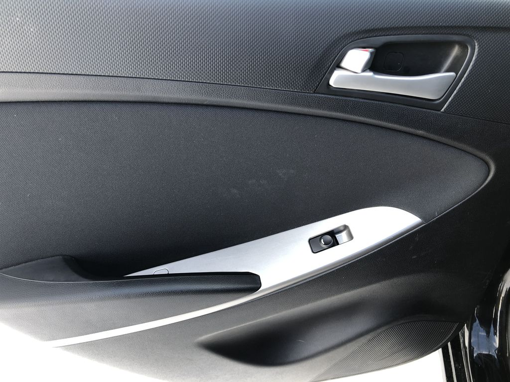 Black[Ultra Black Pearl] 2015 Hyundai Accent Left Rear Interior Door Panel Photo in Canmore AB