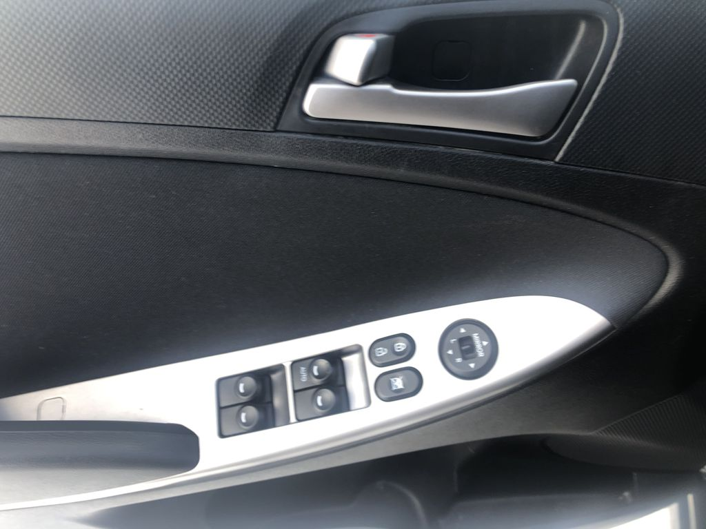Black[Ultra Black Pearl] 2015 Hyundai Accent  Driver's Side Door Controls Photo in Canmore AB