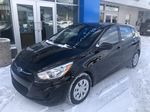 Black[Ultra Black Pearl] 2015 Hyundai Accent Left Front Corner Photo in Canmore AB
