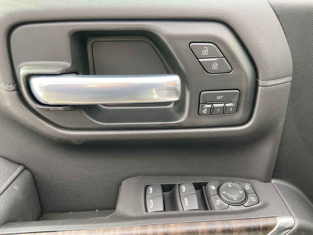 White[White Frost Tricoat] 2021 GMC Sierra 1500 Denali  Driver's Side Door Controls Photo in Calgary AB