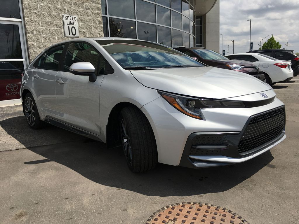 Silver[Classic Silver Metallic] 2021 Toyota Corolla SE Upgrade Package B4RBSC BM Right Front Interior Door Panel Photo in Brampton ON
