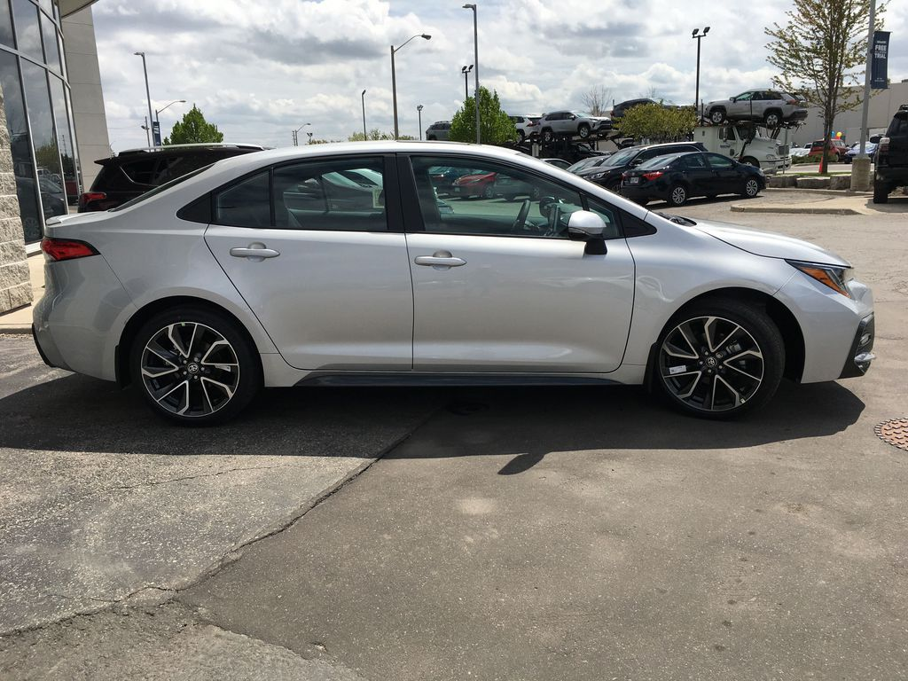 Silver[Classic Silver Metallic] 2021 Toyota Corolla SE Upgrade Package B4RBSC BM Right Side Front Seat  Photo in Brampton ON