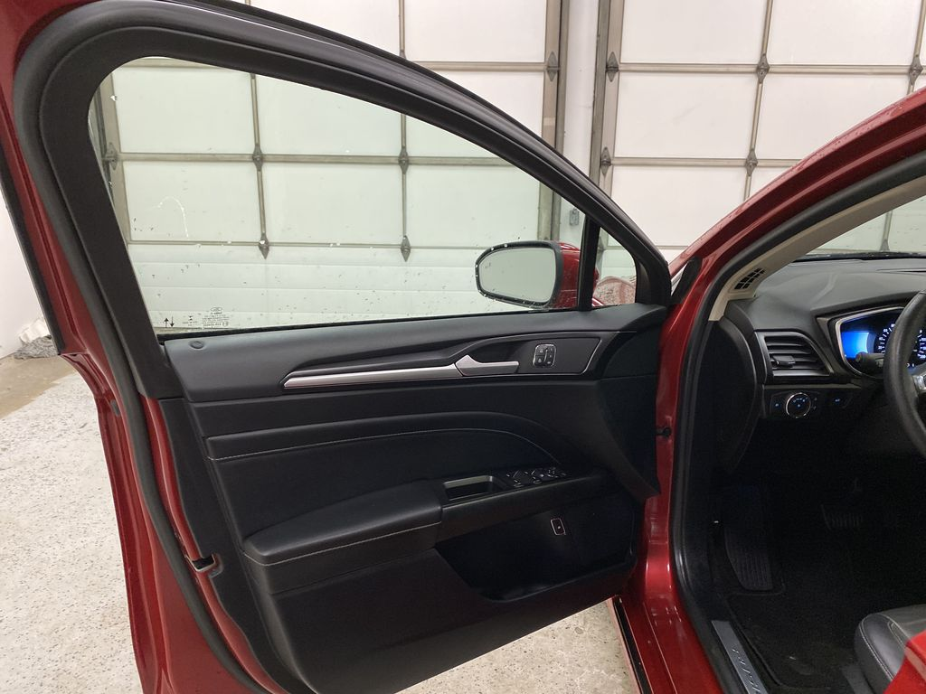 Red[Rapid Red Metallic Tinted Clearcoat] 2020 Ford Fusion Hybrid Left Front Interior Door Panel Photo in Dartmouth NS