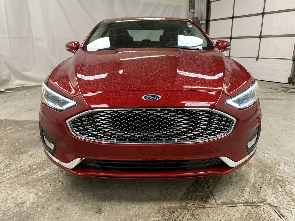Red[Rapid Red Metallic Tinted Clearcoat] 2020 Ford Fusion Hybrid Front Vehicle Photo in Dartmouth NS