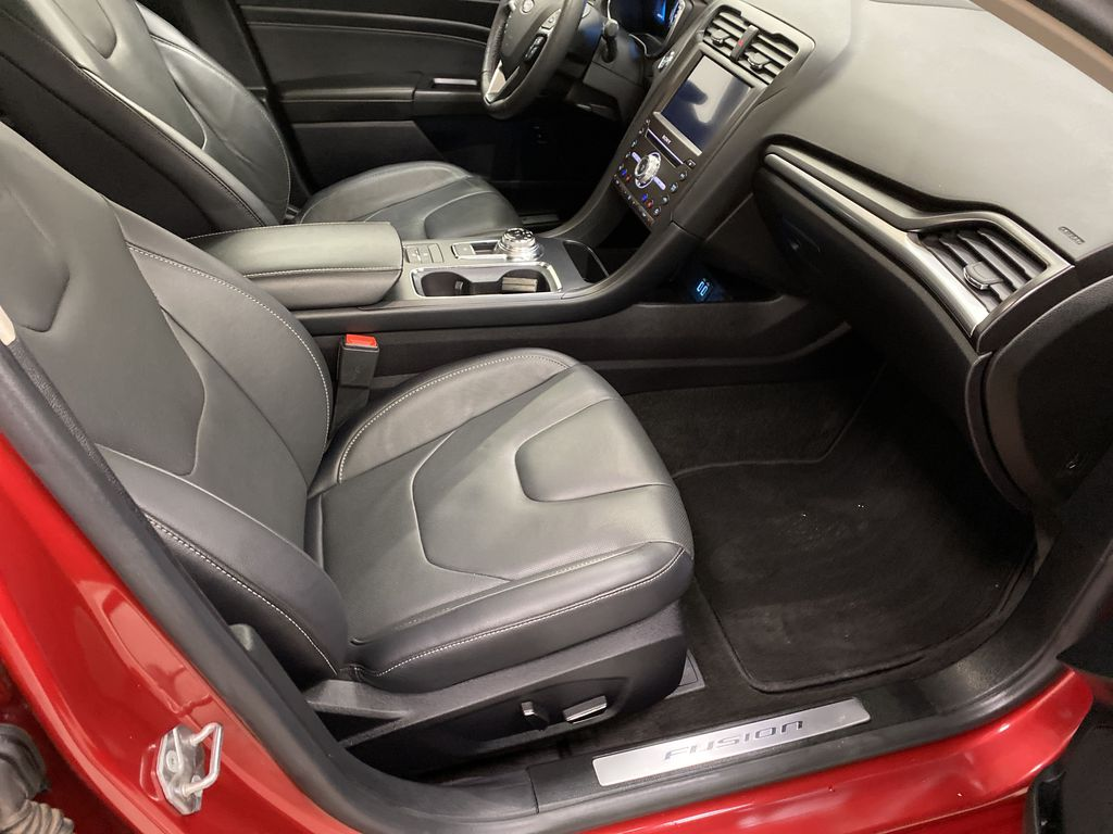 Red[Rapid Red Metallic Tinted Clearcoat] 2020 Ford Fusion Hybrid Right Side Front Seat  Photo in Dartmouth NS
