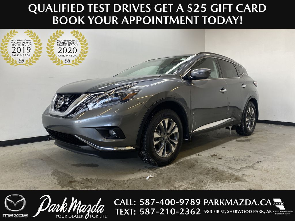 GREY 2018 Nissan Murano SV - Remote Start, Apple CarPlay, NAV
