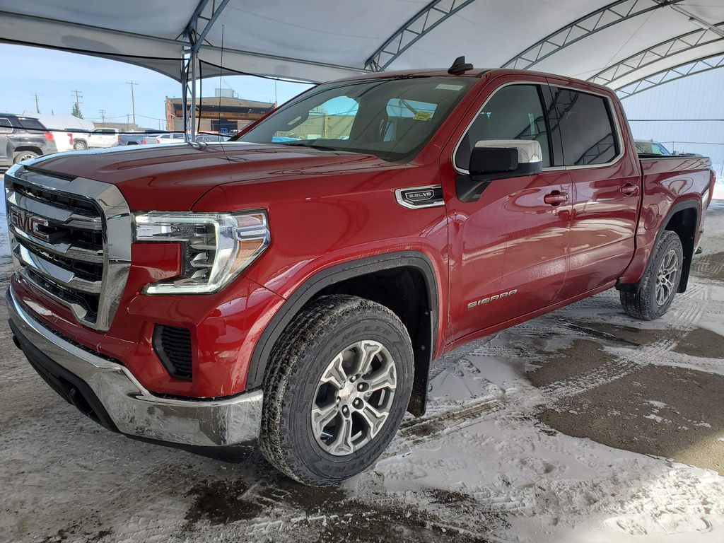 Red 2021 GMC Sierra 1500 Steering Wheel and Dash Photo in Airdrie AB