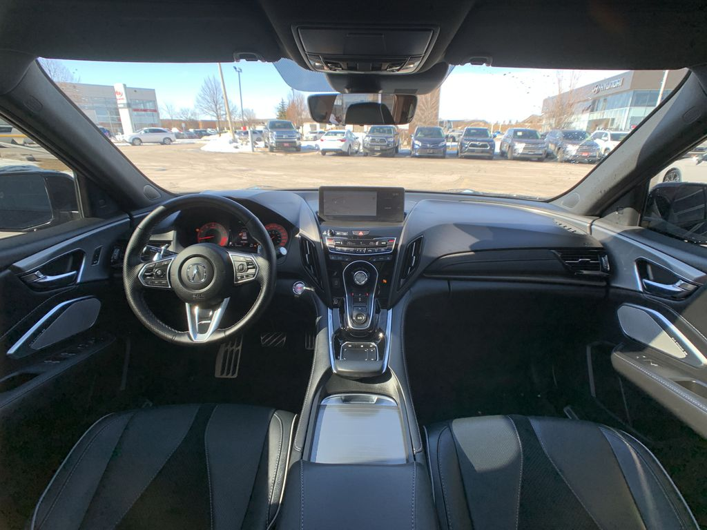 Black[Majestic Black Pearl] 2020 Acura RDX Right Side Rear Seat  Photo in Brampton ON